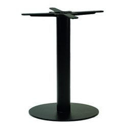 Round black cast iron table base