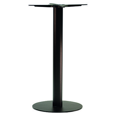 An image of NEXT DAY Forza Round Black Outdoor Cast Iron Table Base - Poseur Height