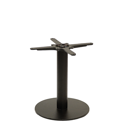 An image of NEXT DAY Forza Round Black Outdoor Cast Iron Table Base - Coffee Height