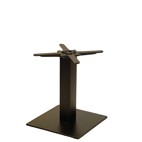 An image of NEXT DAY Forza Square Black Outdoor Cast Iron Table Base - Coffee Height