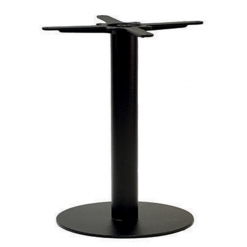 Black Small Round Cast Iron Dining Table Base