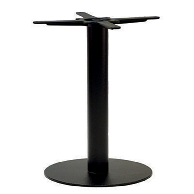 An image of Forza Round Black Cast Iron Table Base - Dining Height