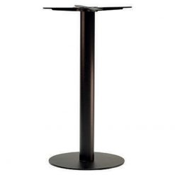 Black Round Cast Iron Poseur Table Base