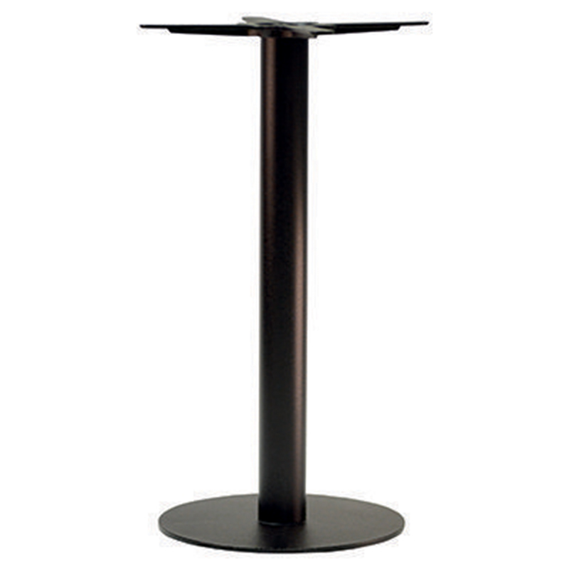 An image of Forza Round Black Cast Iron Table Base - Poseur Height