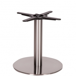 Round Stainless Steel Coffee Height Table Base