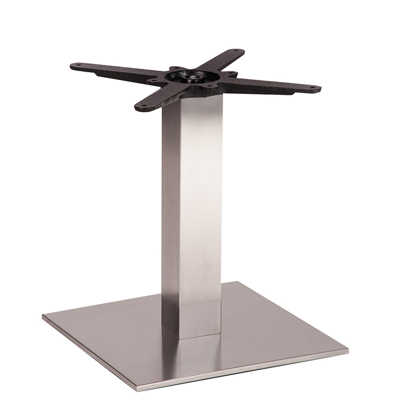 An image of NEXT DAY Danilo Square Stainless Steel Table Base - Coffee Height