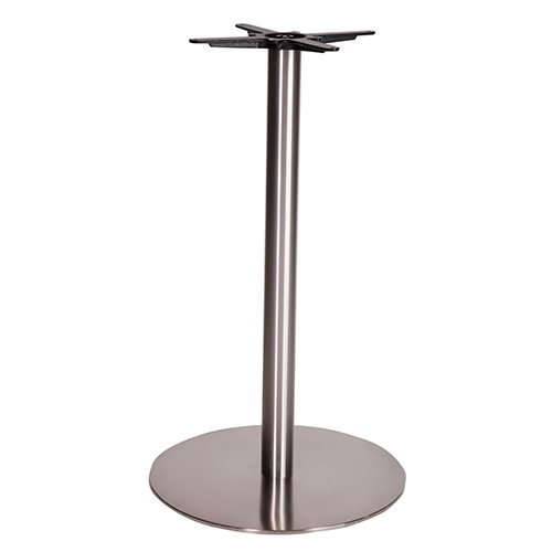 An image of NEXT DAY Danilo Round Stainless Steel Table Base - Poseur Height