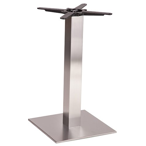 An image of NEXT DAY Danilo Square Stainless Steel Table Base - Dining Height