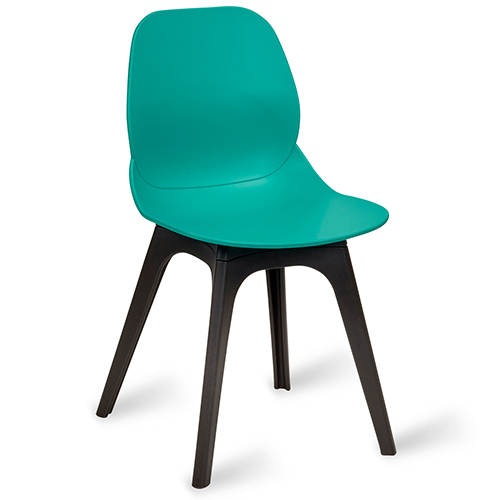 Shoreditch Turquoise Side Chair U2013 Black Polypropylene Frame
