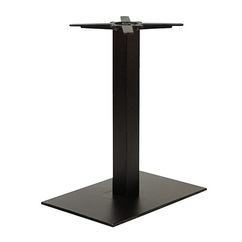 An image of NEXT DAY Forza Rectangular Black Outdoor Cast Iron Table Base - Dining Height
