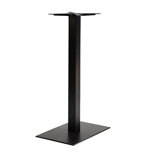 An image of NEXT DAY Forza Rectangular Outdoor Cast Iron Table Base - Poseur Height