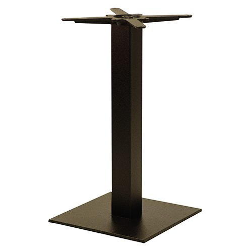 An image of NEXT DAY Forza Square Black Outdoor Cast Iron Table Base - Dining Height
