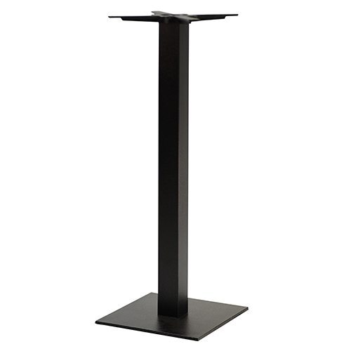 An image of NEXT DAY Forza Square Black Outdoor Cast Iron Table Base - Poseur Height