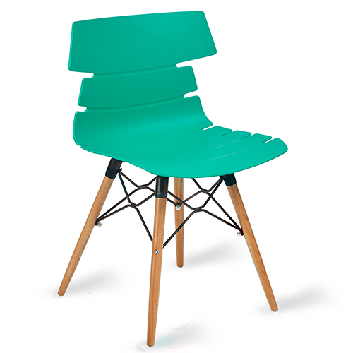 Hoxton Turquoise Side Chair