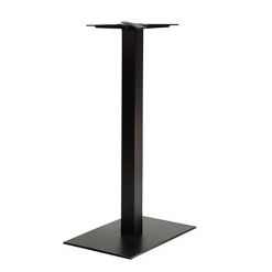 black single pedestal cast iron poseur table base