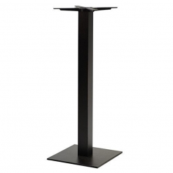 Black Square Cast Iron Poseur Table Base