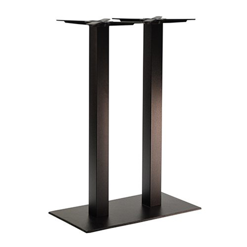 An image of NEXT DAY Forza Twin Pedestal Cast Iron Table Base - Poseur Height