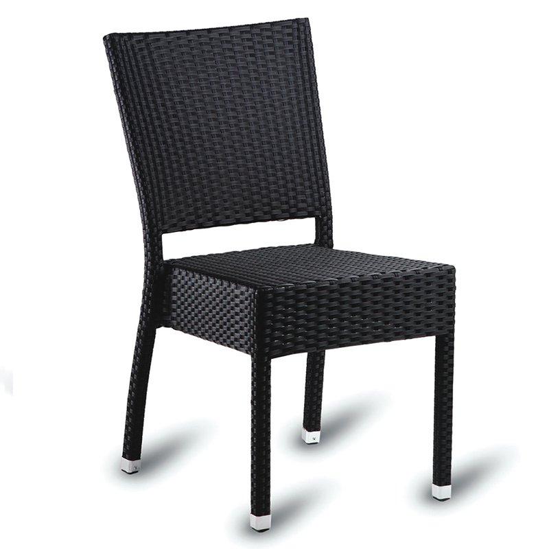 An image of Restaurant Furniture Side Chair Sorrento - Black Weave