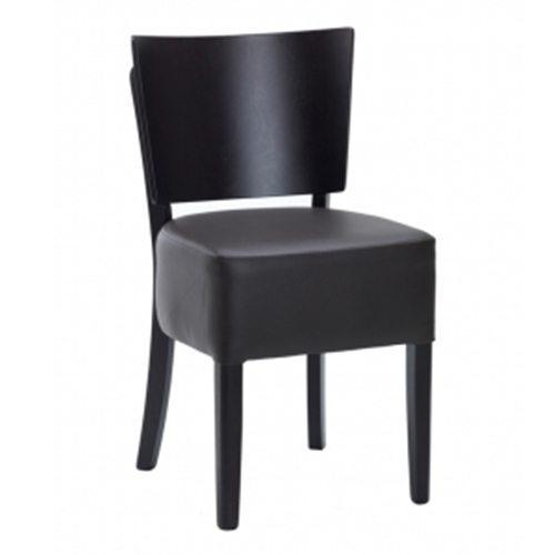 An image of Restaurant Furniture Side Chair Taurus - Dark Brown Faux
