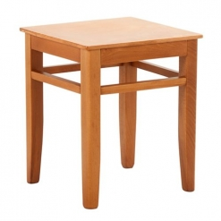 Square Wooden Low Stool