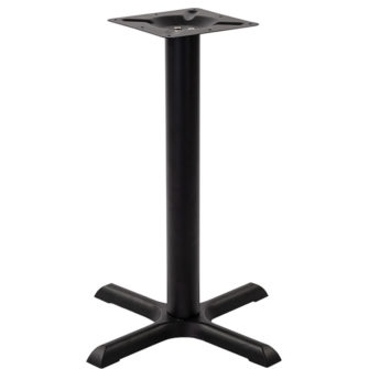 Black Cast Iron 2 Seater Dining Height Cruciform Table Base