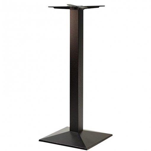 black cast iron square poseur table base