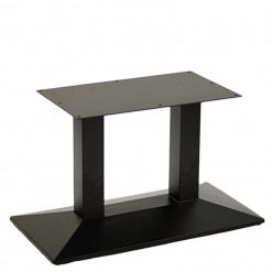 black cast iron twin pyramid coffee table base