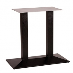 black cast iron twin pyramid dining table base