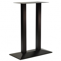 black twin cast iron poseur table base
