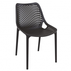 Black Polypropylene Indoor or Outdoor Stacking Side Chair