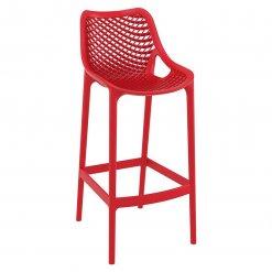 Red Polypropylene Indoor or Outdoor High Chair