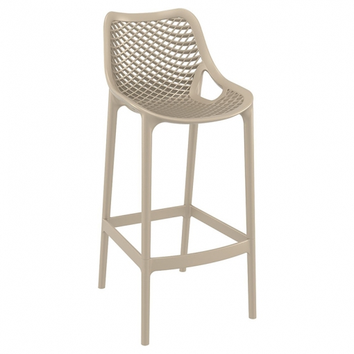 Taupe Polypropylene Indoor or Outdoor High Chair