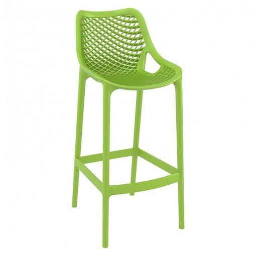 Green Polypropylene Indoor or Outdoor High Chair
