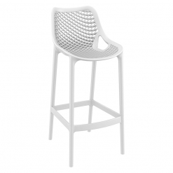 White Polypropylene Indoor or Outdoor High Chair