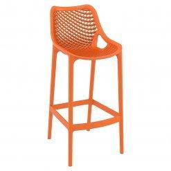 Orange Polypropylene Indoor or Outdoor High Chair