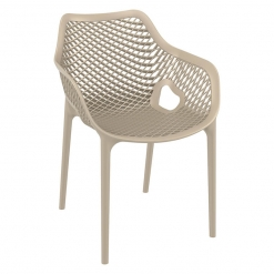 White Polypropylene Indoor or Outdoor Arm Chair