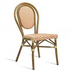 Black Aluminium wicker weave outdoor side chair