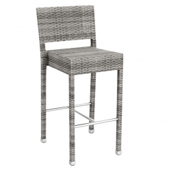Grey Solana Weave Outdoor High Chair