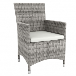 Grey Solana Weave Outdoor Comfort Arm Chair With Cushion