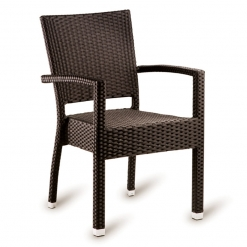 Brown Solana Weave Outdoor Arm Chair