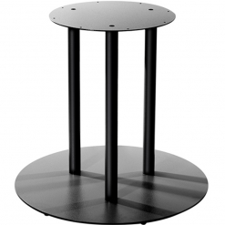 Black large cast iron table base