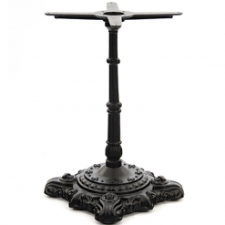 black cast iron ornate dining table base