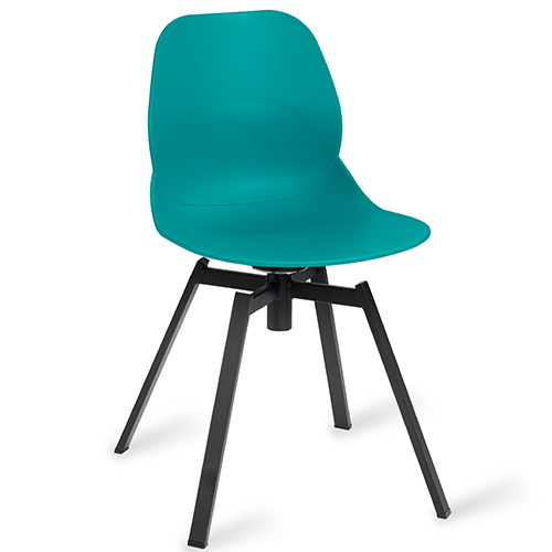 Shoreditch Turquoise Side Chair U2013 Swivel Steel Frame