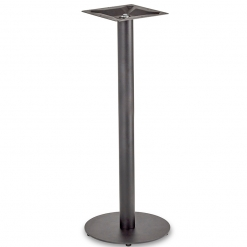 Black-EPC-Mild-Steel-Small-Round-Base-and-Column-Poseur-Height-Table-Base-Nobis-Restaurant-Furniture