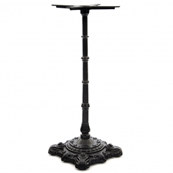 Black Ornate Cast Iron Poseur Table Base