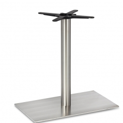 Stainless-Steel-Flat-Rectangular-Single-Pedestal-Round-Column-Dining-Height-Table-Base