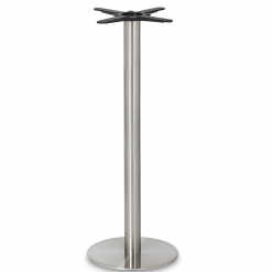 Stainless- Steel-Small-Round-Column-Poseur-Height-Table-Base