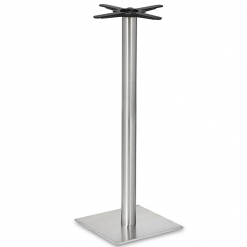 Stainless-Steel-Square-Base-Round-Column-Poseur-Height-Table-Base