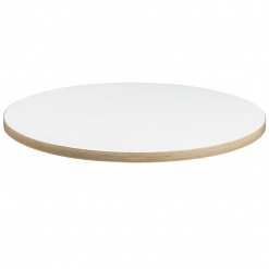 White Laminate with Ply Edge Table Top - 25mm