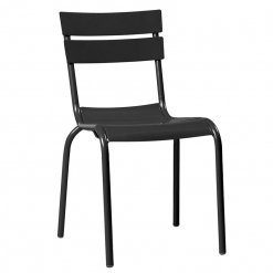 Black Aluminium Stacking Side Chair